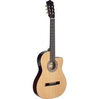 Stagg C546TCE-N Natural Thin Body Cutaway Acoustic/Electric Classical Guitar