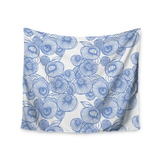 KESS InHouse Gill Eggleston 'Fenella Floral' Blue White 51x60-inch Tapestry