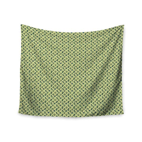 KESS InHouse Holly Helgeson 'Flutterby' Yellow Lime 51x60-inch Tapestry