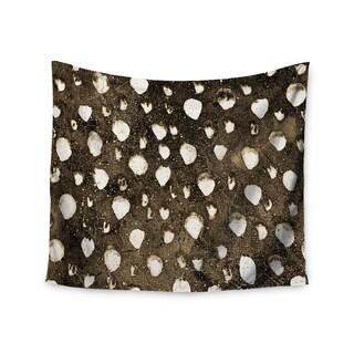 KESS InHouse Iris Lehnhardt 'Dots Grunge' Brown White 51x60-inch Tapestry