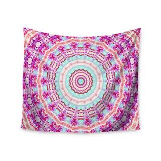 KESS InHouse Iris Lehnhardt 'Happy' Circle Pink 51x60-inch Tapestry