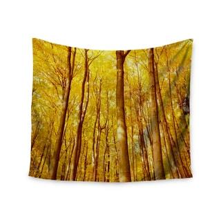 KESS InHouse Iris Lehnhardt 'Forest Colors' Yellow Orange 51x60-inch Tapestry