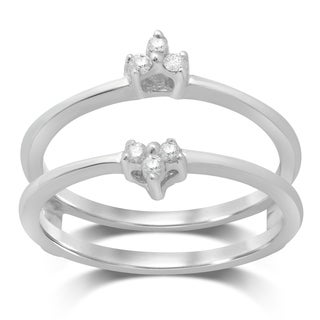 Unending Love 14k White Gold 1/10ct TDW Diamond Solitaire Enhancer Ring (IJ I1-I2)
