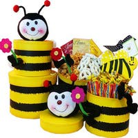 Honey, Bee Well Soon Gourmet Food Gift Tower - honey-bee-well-tower