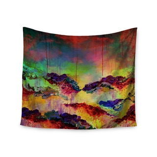 Kess InHouse Ebi Emporium 'It's A Rose Colored Life 4' Yellow Red 51x60-inch Wall Tapestry