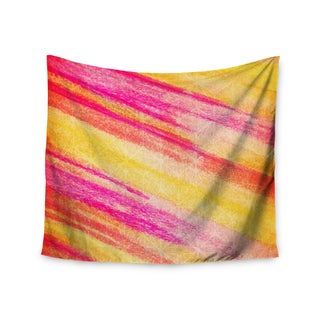 KESS InHouse Ebi Emporium 'All That Jazz' Yellow Pink 51x60-inch Tapestry