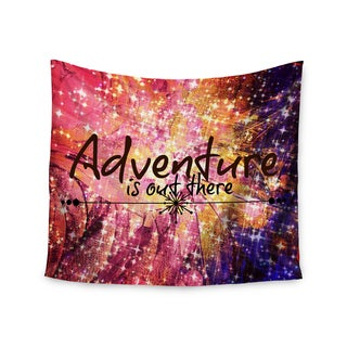 KESS InHouse Ebi Emporium 'Adventure is Out There' Pink Typography 51x60-inch Tapestry