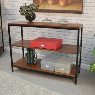 Finn Black/Chestnut Metal/Wood Console