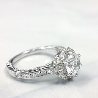 Lihara and Co. 18K White Gold 0.31ct TDW Semi-Mount Diamond Engagement Ring (5 options available)