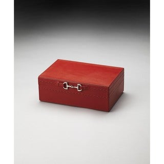 Butler Ginger Orange Leather Jewelry Case