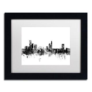 Michael Tompsett 'Birmingham England Skyline B&W' Matted Framed Art