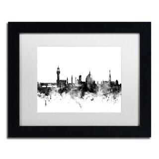 Michael Tompsett 'Florence Italy Skyline B&W' Matted Framed Art