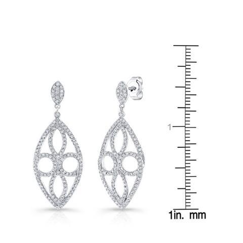 14k White Gold 0.94ct TDW Diamond Earrings