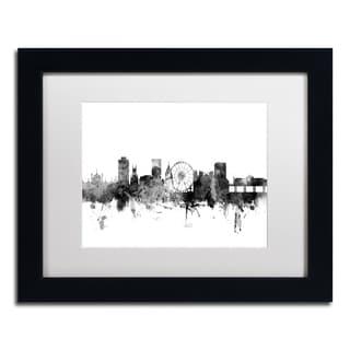 Michael Tompsett 'Brighton England Skyline B&W' Matted Framed Art