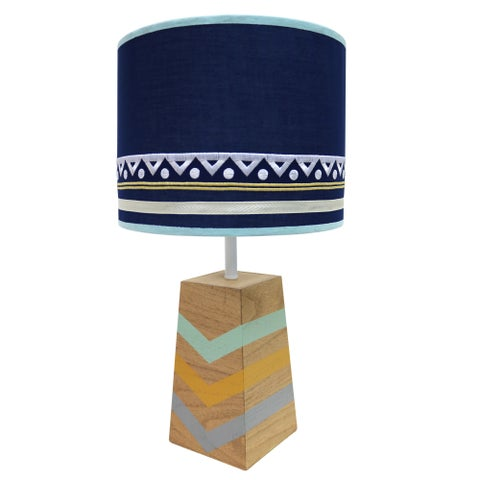Farallon Peanut Shell Indio Blue Metal Lamp and Shade