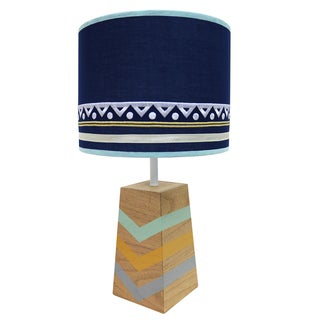 Farallon Peanut Shell Indio Blue Metal Lamp and Shade