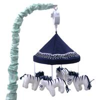 Farallon The Peanut Shell Indio Blue Fabric Musical Mobile