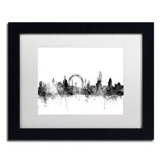 Michael Tompsett 'London England Skyline B&W 2' Matted Framed Art
