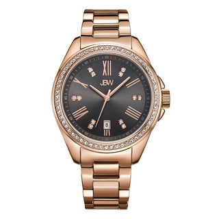 JBW Capri Rose/Black Gold-plated Stainless Steel/Mineral Diamond Women's Watch