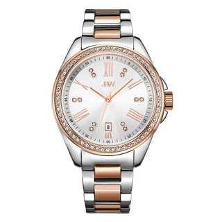 JBW Women's Capri J6340C 2-tone Stainless Steel and Rose Gold Diamond Watch