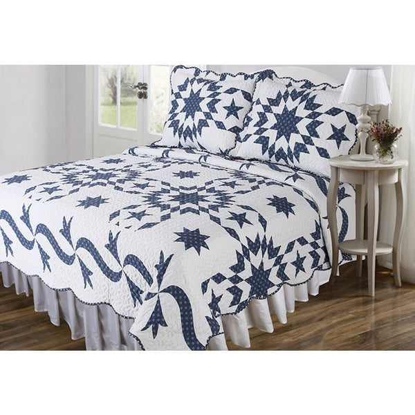 Slumber Shop Stencil Patch Vintage Collection 3-Piece Quilt Set