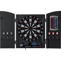 Fat Cat Mercury Electronic Soft-tip Dartboard With Cabinet - Black