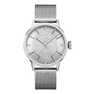 JBW Women's Belle J6339C Silver Mineral/Stainless Steel Diamond Watch