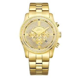 JBW Vanquish J6337B 18k Gold-plated Stainless Steel Diamond Multi-function Men's Watch