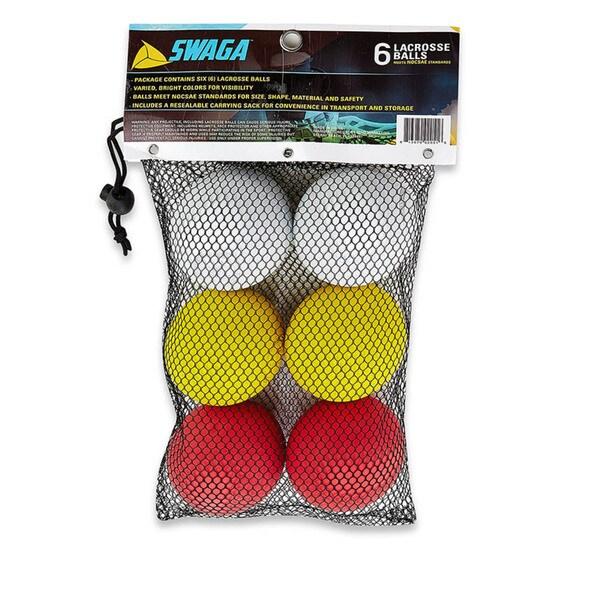 Swaga Lacrosse White, Red, Yellow Balls