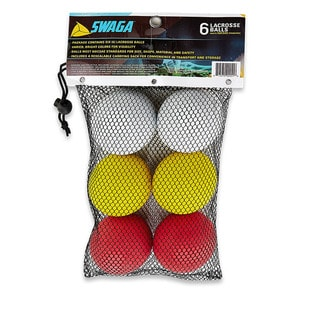 Swaga Lacrosse White, Red, Yellow Balls