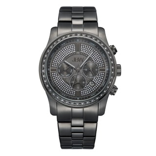 JBW Men's Vanquish Gunmetal-plated Stainless Steel Diamond Watch