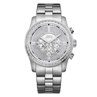 JBW Men's Vanquish J6337C Stainless Steel Mult-Fuction Diamond Watch