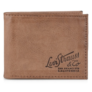 Levi's Men's Genuine Leather Passcase Bifold Wallet