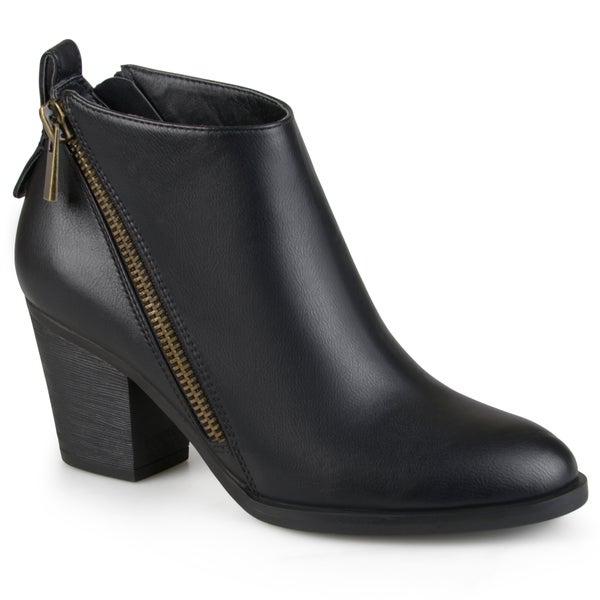 Womens Zippered High Heeled Booties