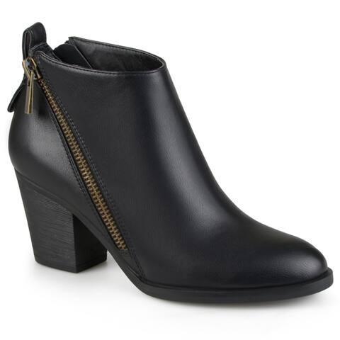 Journee Collection Womens Bristl Zippered High Heeled Booties