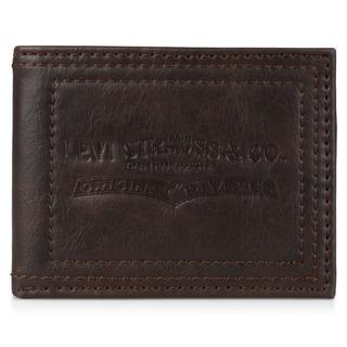 Levi's Men's Genuine Leather Embossed Passcase Wallet