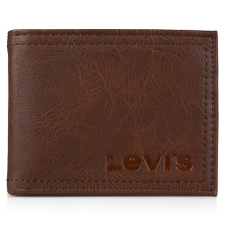 Levi's Men's Genuine Leather Embossed Passcase Wallet