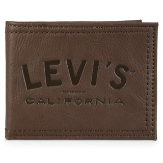 Levi's Men's Genuine Leather Bifold Wallet