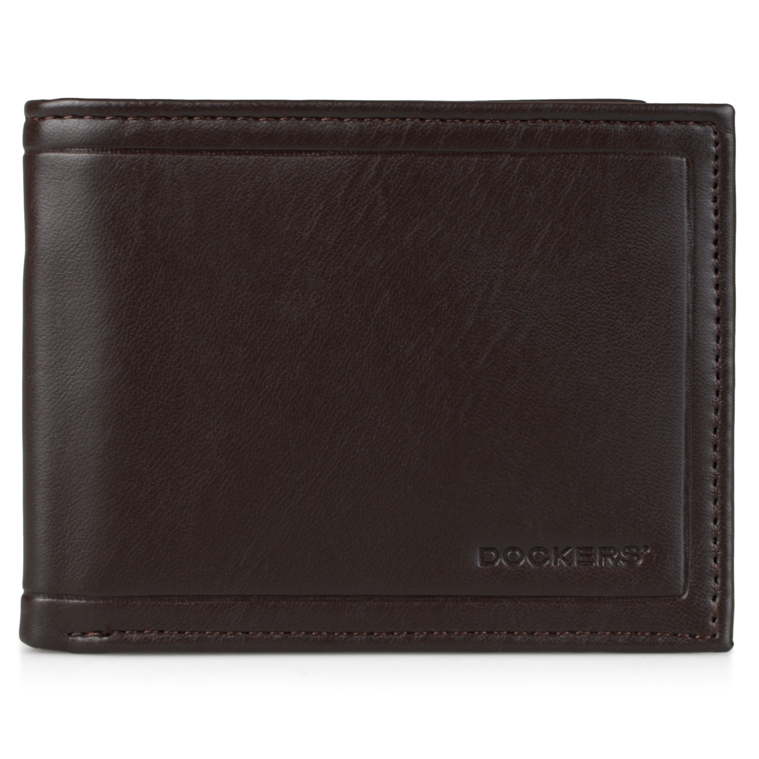 Dockers Men's Genuine Leather Embossed Passcase Wallet (B...