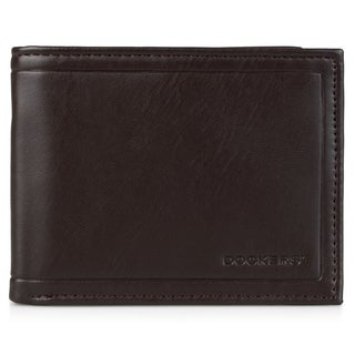 Dockers Men's Genuine Leather Embossed Passcase Wallet