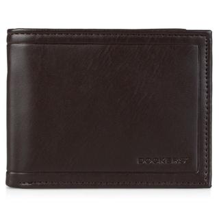 Dockers Men's Genuine Leather Embossed Passcase Wallet
