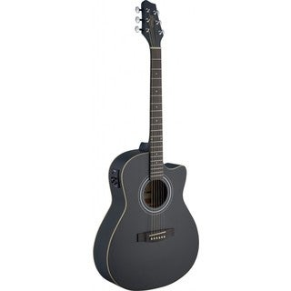 Stagg SA30ACE-BK Auditorium Black Cutaway Acoustic/Electric Guitar