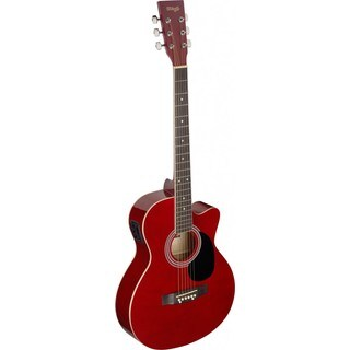 Stagg SA20ACE RED Red Auditorium Cutaway Acoustic/Electric Guitar