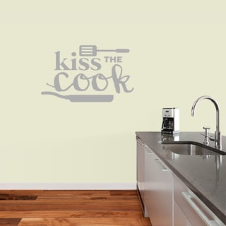 Sweetums 'Kiss the Cook' 36-inch x 22-inch Wall Decal