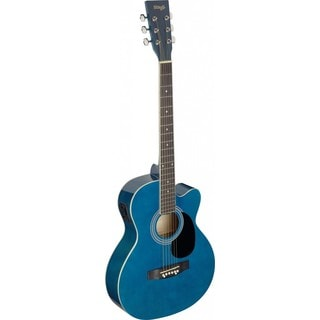 Stagg SA20ACE Blue Auditorium Cutaway Acoustic Electric Guitar