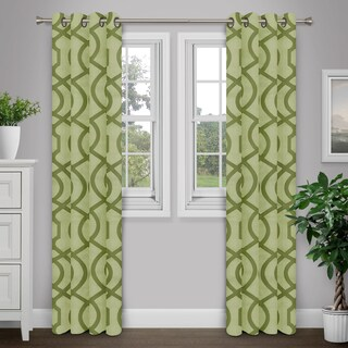 Journee Home 'Tallula' Jacquard Grommet Top 90 in Curtain Panel (2 options available)