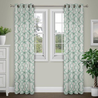 Journee Home 'Tallula' Jacquard Grommet Top 90 in Curtain Panel