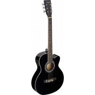 Stagg SA20ACE BLK Black Auditorium Cutaway Acoustic/Electric Guitar