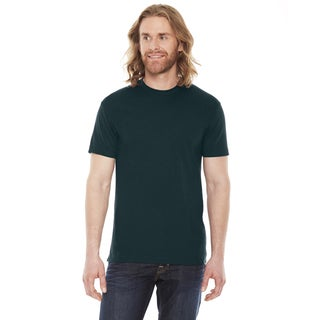 American Apparel Unisex 50/50 Black/Aqua Short Sleeve T-shirt (5 options available)