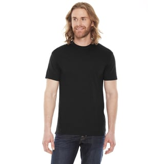 American Apparel Unisex 50/50 Black Short Sleeve T-Shirt